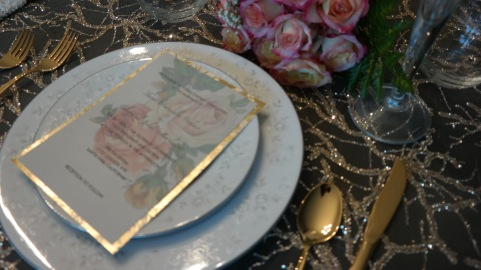 Rose and Gold Tablescape