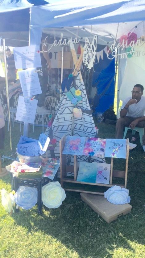 Adaria Designs set up at Babychella