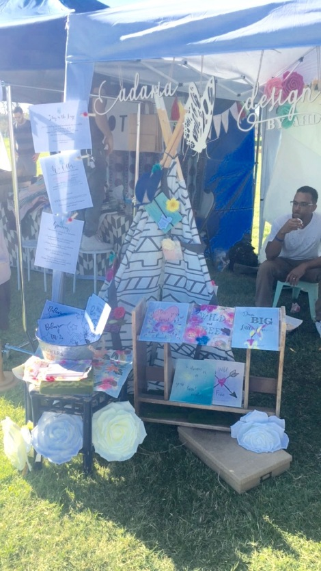 Adaria Designs set up at Babychella
