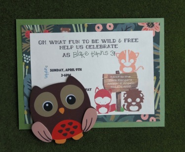 Wild and Free Birthday Party Invitation